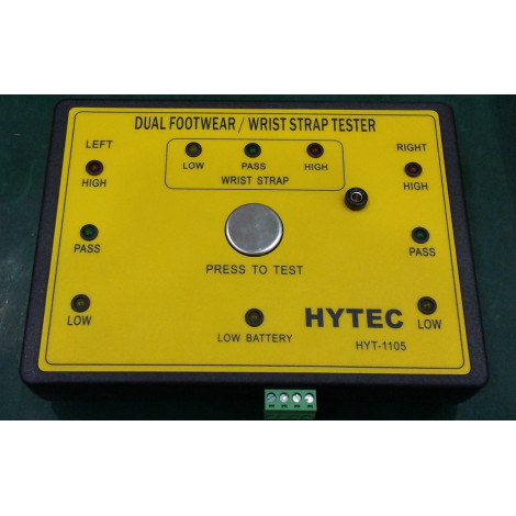 Hytec #HTY-1105 ESD Dual Independent Wriststrap and Footwear Data Logger